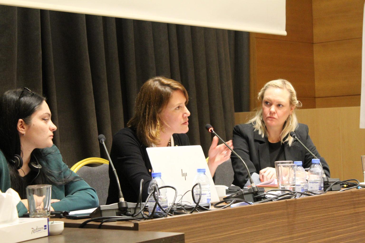 Antonia Mulvey speaks at Legal Action Lebanon