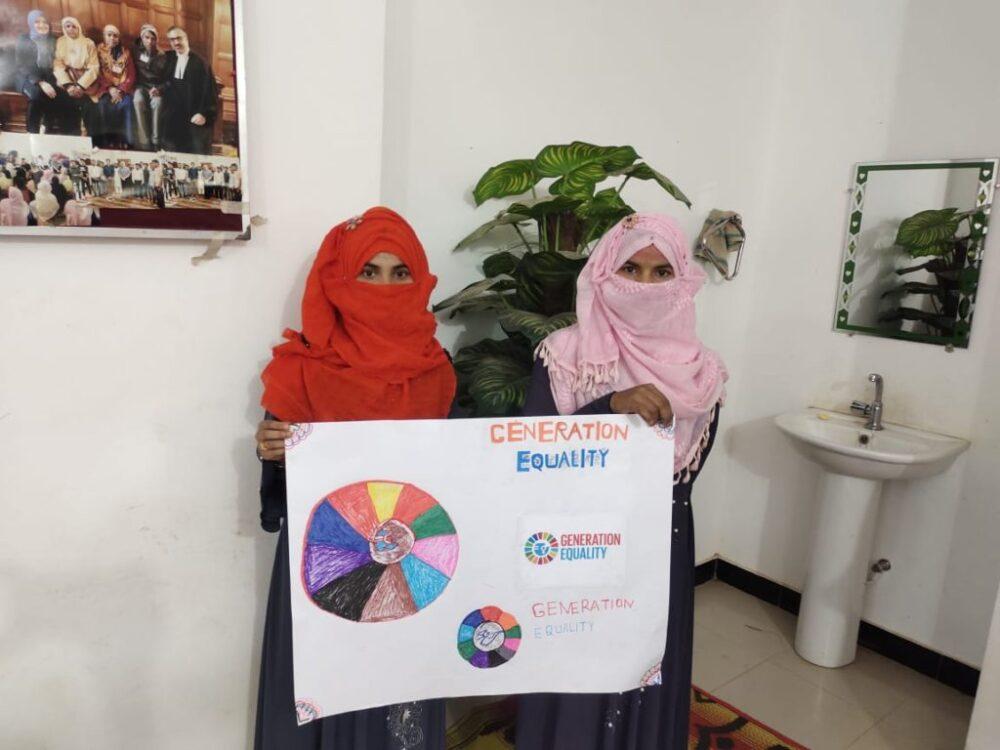 Shanti Mohila women celebrate International Women's Day 2021 (8 March 2021)